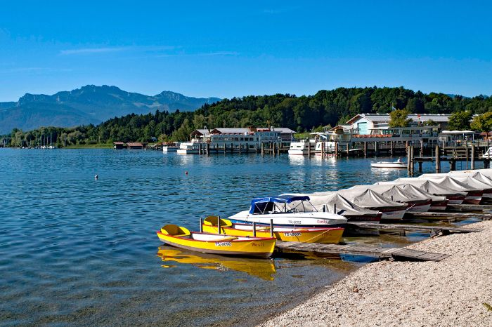 Pedal boats in Prien at Lake Chiemsee