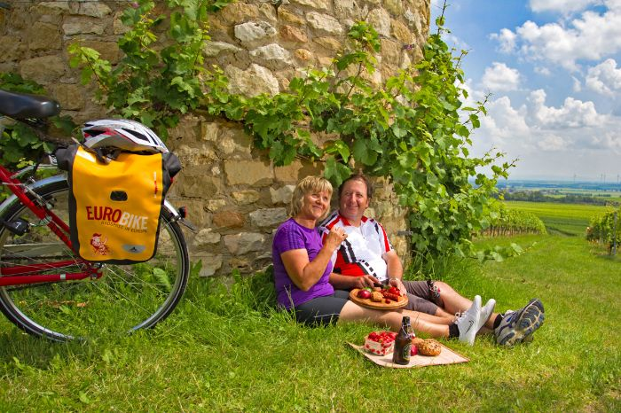 Picnic during a cycle tour