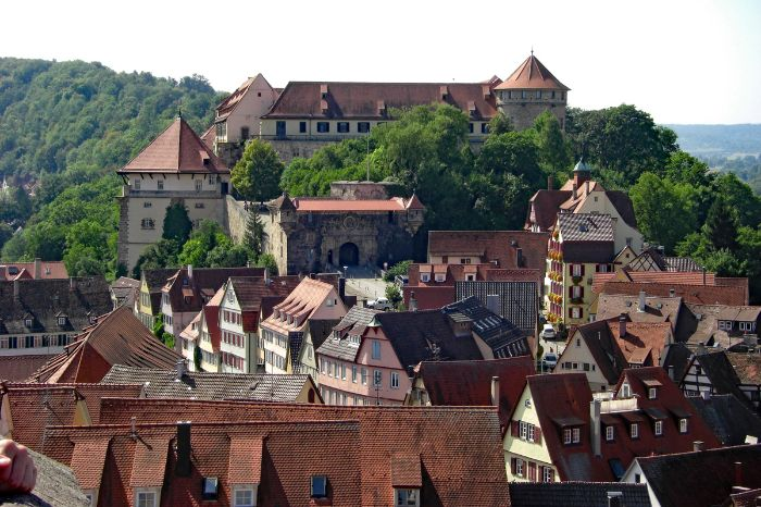 View to Castle Hohentübingen in Tübingen