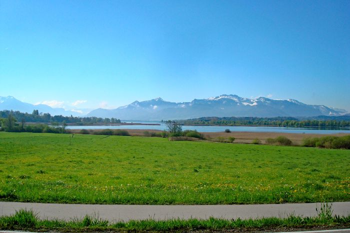 View over the northern side of Lake Chiemsee