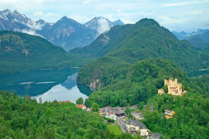 View to Castle Hohenschwangau