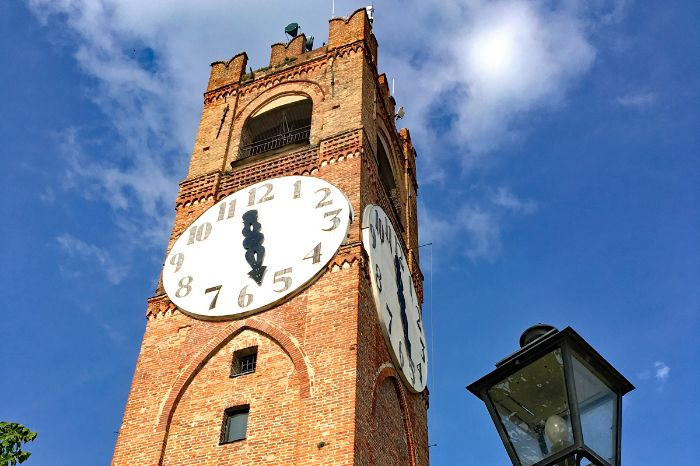 Clock tower in Mondovi