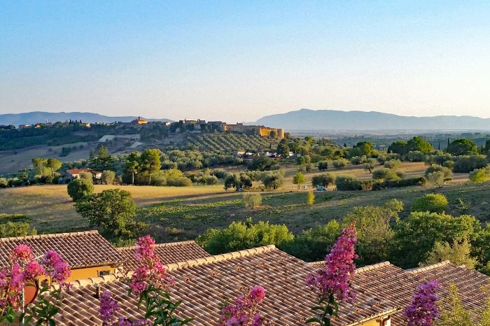 View over the region Maremma